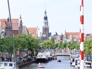 Het centrum van Alkmaar vanaf de WR130